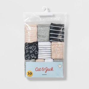 Cat & Jack cotton bikini size 8 - 10 pack